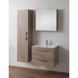 Meuble Banio Dantal vasque 2 tiroirs de 70 cm sur sol couleur chêne betonlook