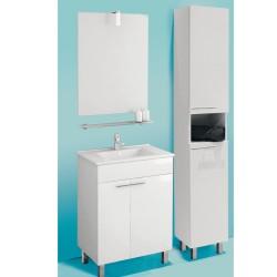 Banio Rubi Set de meuble salle de bain de 60 cm - Blanc