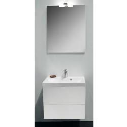 Banio Design-Roxanna set meuble de salle de bain de 60 complet blanc