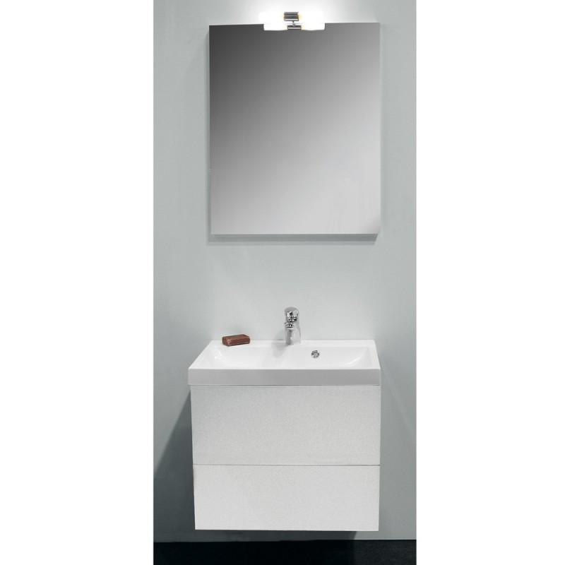 Banio design roxanna set meuble de salle de bain de 60 complet blanc banio for Set salle de bain design