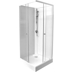 Banio design-Adrio cabine de douche complet 80x80 cm sans silicone