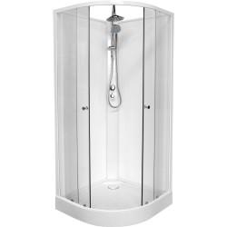 Banio Design-Lu cabine de douche complet quart de rond 90 x 90 x 222,5 cm