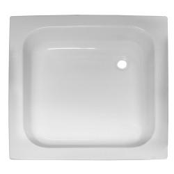 Banio Receveur de douche en acrylique blanc 80x80x15 cm