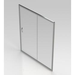 Banio-Belu porte coulissante avec profils alu chromés et 6mm verre easy clean - Mesures 160x190cm