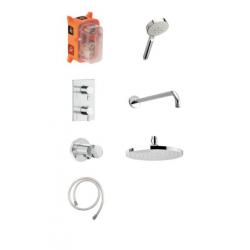 Damixa Hilina HS 1 - Système de thermostat de douche encastré - Chromé