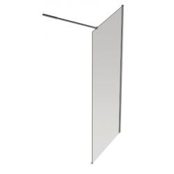 Banio Design Anne Paroi fixe avec verre transparent 6mm easy clean - 120x200cm.
