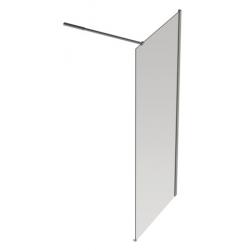 Banio Design Diane Paroi fixe avec verre transparent 8mm easy clean - 90 x 200 cm