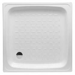 Banio Receveur de douche Acier 80x80x15 cm - Blanc