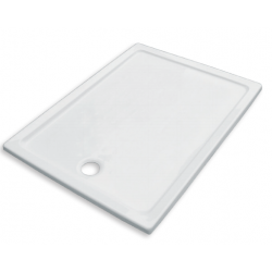 Banio Design Edes Receveur de douche en acrylique - 100x80x3 cm - Blanc