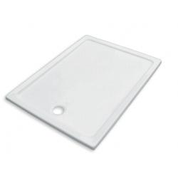 Banio Design Edet Receveur de douche en acrylique - 120x90x3 cm - Blanc