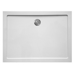 Banio Design Helios Receveur de douche en composite synthétique blanc diamètre de 90 mm - 120x90x3,5cm.