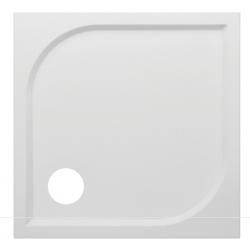 Banio Design Argos Receveur de douche en polybeton gelcoat blanc - 80x80x3cm