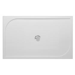 Banio Design Argos Receveur de douche en polybeton gelcoat Blanc - 140x90x3cm