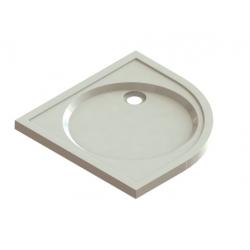 Banio Design Protos Receveur de douche quart de rond en solid surface Blanc - 90x90x3,5cm