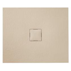 Banio Design Kryptos Receveur de douche en imitation pierre Crème - 90x90x3cm