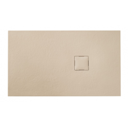 Banio Design Kryptos Receveur de douche en imitation pierre Crème - 120x90x3cm