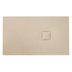 Banio Design Kryptos Receveur de douche en imitation pierre Crème - 140x90x3cm