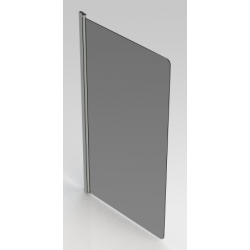 Banio Design Megala Paroi de bain 1 volet avec profil chromé - 75x130cm