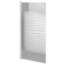Banio Design Ammot Paroi de bain 1 volet avec profil blanc - 75x130cm
