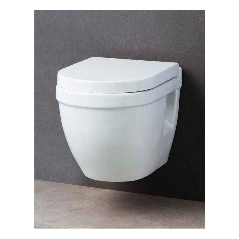 wc suspendu compact design shaba blanc avec abattant soft close et d clipsable quick release. Black Bedroom Furniture Sets. Home Design Ideas