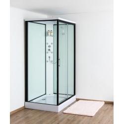 Design Anke Cabine de douche droite 90x120 cm avec porte coulissante - Noir