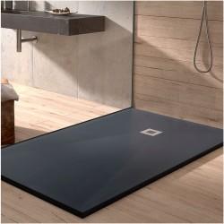 Banio-Stone-plus receveur de douche minérale gel-coat extra plat  90x120 Ardoise anthracite