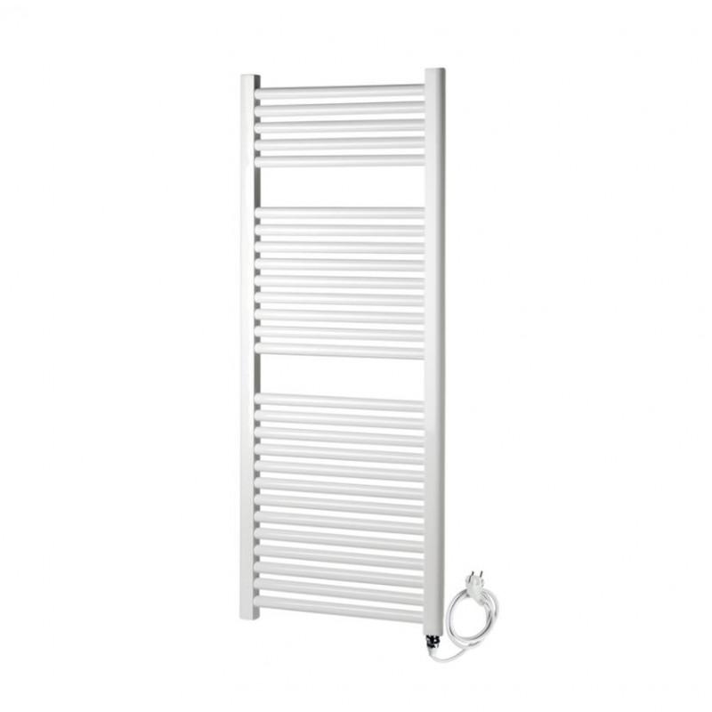 radiateur s che serviette lectrique 50x120 cm blanc banio. Black Bedroom Furniture Sets. Home Design Ideas