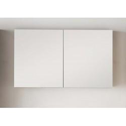 Miroir avec armoire pour meuble de salle de bain Banio-Tony Couleur: Blanc Hauteur 70 Largeur 120 Profondeur 16