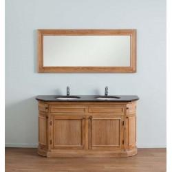Banio-Flamant Meuble de salle de bain Chêne clair avec miroir - 160x55x86cm