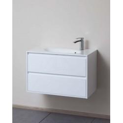 Meuble de salle de bain Banio-Nele Couleur: Blanc Hauteur 51 Largeur 80 Profondeur 42