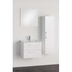 Meuble de salle de bain Banio-Dago avec miroir Blanc