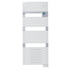 Banio-Asamo Ventilo Radiateur sèche-serviettes électrique ventilo Blanc 500+1000 Watt - 55x101cm