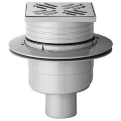 Bondes de douche Banio-Onega en ABS  sortie vertical hauteur réglable grille en inox