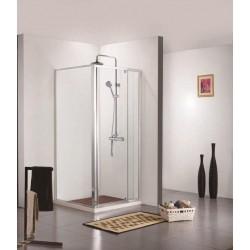 Porte de douche avec paroi de douche Banio-Urian Chromé - 120x90 cm