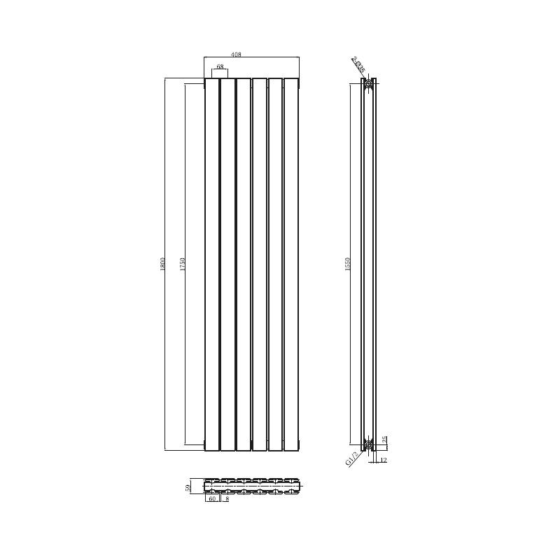 radiateur dcoratif au meilleur prix du march chez banio salle de bain - Douche Italienne Dimension1752