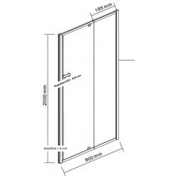 porte de douche noir et paroi de douche noir banio urian 90x90 cm. Black Bedroom Furniture Sets. Home Design Ideas