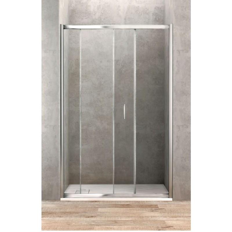 Porte de douche coulissante de 100 cm de large banio salle de bain - Porte coulissante douche 100 ...