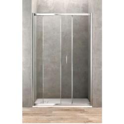 Porte de douche coulissante de 170 cm de large vitrage securit de 6 mm