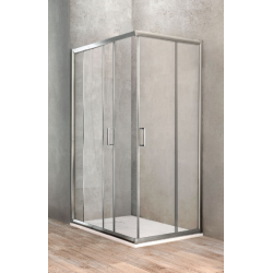 Ponsi Paroi de douche rectangulaire porte coulissante 70x120 cm