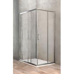 Ponsi paroi de douche rectangulaire avec porte coulissante 70x90 cm