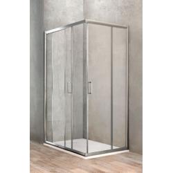 Ponsi Paroi de douche rectangulaire avec porte coulissante 80x100 cm