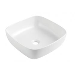 Design Anubit Lavabo à poser carré 405 - Blanc