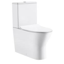 Design Tina Pack wc cuvette au sol avec abattant softclose - Blanc