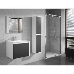 Banio Design Felino Meuble salle de bain 60 cm - Blanc/Gris