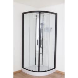 Banio Pedra Cabine de douche 90x90x200 cm - Noir/Blanc