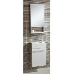 Meuble lave-main 40x22cm avec miroir 40x70 cm blanc