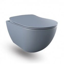 Banio wc suspendu rimless avec bidet - Basalt (gris) mat