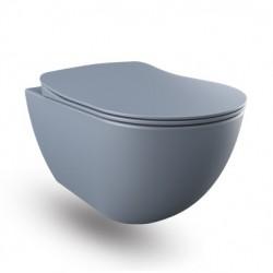 Banio wc suspendu avec bidet - Basalt (gris) mat