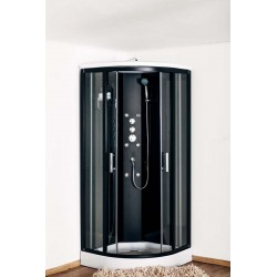 Cabine de douche Astoxi Noir de 90x90x226cm Thermostatique