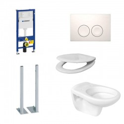 Geberit autoportant Duofix Delta Pack WC suspendu et abattant soft-close (frein de chute)
